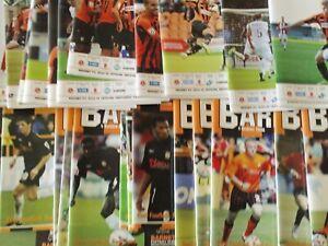 BARNET HOME PROGRAMMES SEASONS  2005/06 - 2010/11