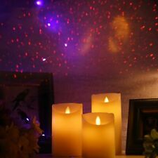 Newest Dancing Flame Led Candles Laser Pillar With Star Sky Wedding Decorations