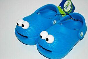 NEW POLLIWALKS SESAME ST. COOKIE MONSTER ELMO shoe clogs 3D sandal 5 6 7 8 9 10