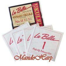 Ukulele Strings - La Bella No. 11 Soprano White Nylon 0.022-0.036