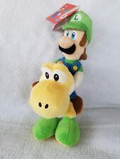"9"" Super Mario Plush Luigi Riding On Yellow Yoshi Plush Doll Toy Global Holdings"