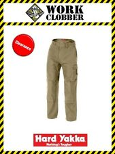 Hard Yakka Legends Cotton Duck Weave Pants Y02800 Khaki 112S WITH TAGS!
