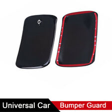 2X Black Front Rear Bumper Rubber Pad Protector Corner Cover Guard Anti-scratch