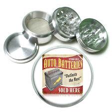 """Vintage Poster D250 Aluminum Herb Grinder 2.5"""" 63mm 4 Piece Auto Batteries"""