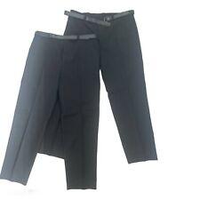 "2x Pairs Men Black Trousers 42L 42""waist 34"" leg BRAND NEW WITH BELT"