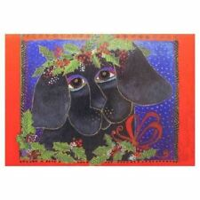 "Laurel Burch ""Happy Holiday Puppy"" Christmas Greeting Card With Envelope"