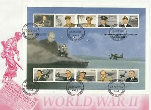 MALDIVES 30 DEC 1991 LEADERS THE PACIFIC THEATRE OF WAR O/SIZED FIRST DAY COVER