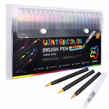 Watercolor Brush Pens 20 Paint Markers with Flexible Brush Tips Professional Set