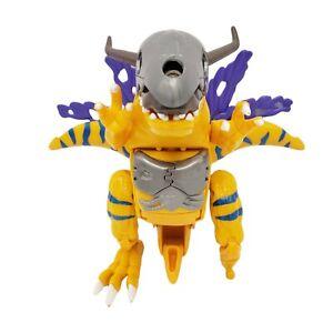 "Digimon Digivolving Metal Greymon Wargreymon 6"" Figure For Parts Bandai 1999"