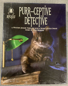 Bepuzzled Purr-Ceptive Detective Mystery Secret  Jigsaw Puzzle Story. NEW SEALED