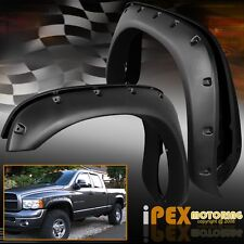 4PC 02-08 Ram 1500 / 03-09 2500 3500 Wide Extended Black Protector Fender Flares