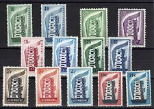EUROPA: ANNEE COMPLETE 1956 DE 13 TIMBRES NEUF* Cote: 671,00 €