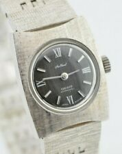 Vintage Ladies Orient New Chanel Cross-Hatched Grey Mechanical Watch E987/1.1