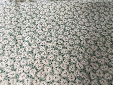 Small Beige leaves of green background 100 % Cotton Fabric