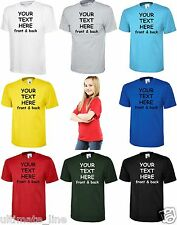 Personalised Kids Children TShirts Guides Scouts Dance Team Printed front & back