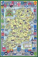 Historical Map of Ireland 1000 Piece Jigsaw Puzzle  690mm x 480mm  (jg)