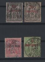 G137852/ FRENCH MOROCCO – MAURY # 2 - 4 - 5 - 10 USED – CV 125 $