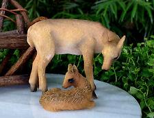 Miniature Dollhouse FAIRY GARDEN Accessories ~ Deer and Fawn ~ NEW
