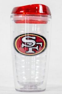San Francisco 49ers NFL Licensed 16oz Double Wall Insulated Tumbler Cup w/Lid