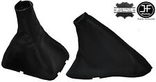 BLACK STITCH LEATHER MANUAL GEAR & HANDBRAKE BOOT FITS CHEVROLET OPTRA 02-09