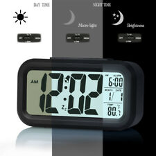 Digital Alarm Clock Large Display Travel Alarm Clock with Calendar Battery Opera