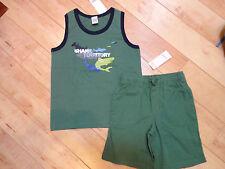 Boy Gymboree Shark Reef Shirt Shorts 6 NWT