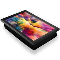 Deluxe Lap Tray - Watercolour Cloud Explosion Paint Home Gift #14638