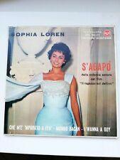 "SOPHIA LOREN""S'AGAPO RARO -DISCO 45 GIRI EPA30-117"