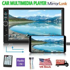 """7"""" Double 2 Din Car Mp5 Player Bluetooth Touch Screen Stereo Radio Mirror Link"""