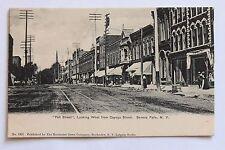 "Old UDB postcard ""Fall Street"" looking West from Cayuga Street Seneca Falls N.Y."