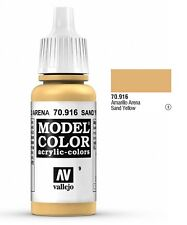 """Vallejo """"Model Color"""" Sand Yellow Acrylic Hobby Paint: 17ml Bottle - 70.916"""