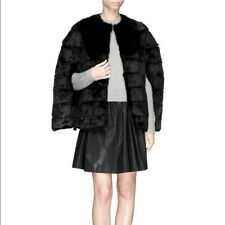 H Brand Gigi Black Rabbit Fur Cape NWT One Size