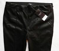 BNWT NEXT Ladies Leather look biker stretch jeggings leggings black ankle zips