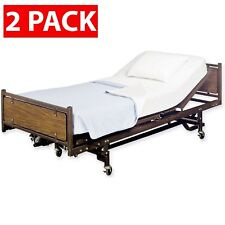 """2 PACK - Fitted Hospital Bed Sheets, Soft Knitted Jersey Knit Sheet, 36""""x84""""x16"""""""