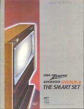 Vintage Zenith Tv Brochure 1984 - Excellent