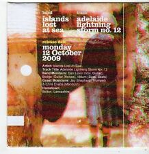 (FI48) Islands Lost At Sea, Adelaide Lightning Storm No 12 - 2009 Ltd Ed DJ CD