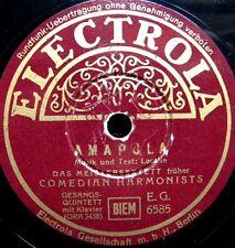 0369/ MEISTERSEXTETT- COMEDIAN HARMONISTS -Amapola-Donkey serenade-Schellack