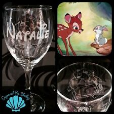 Personalised Disney Thumper Wine Glass Gift For Her Handmade Free Name Engraved!