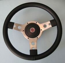 "New 13"" Vinyl Steering Wheel & Adaptor for MGB 1977-1980 MG Midget 1978-1979"