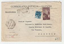 STORIA POSTALE  REPUBBLICA DEMOCRATICA L.15+50 SU RACC. ROMA 27/1 Z/2497