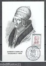 1964 - CARTE 1°JOUR -PAPE SYLVESTRE II-GERBERT-D'AURILLAC-REIMS - TIMBRE Yt.1421