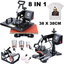 Ridgeyard 8en1 38X38CM Presse à Chaud Transfer Presse Textile Imprimé Impression