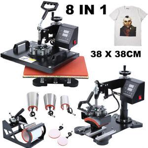 8 in1 38X38CM Presse à Chaud Transfer Presse Textile Imprimé Impression 8 en1