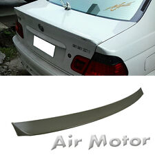 Unpainted BMW E46 Sedan D Rear Trunk Boot Spoiler Wing & USB Cable