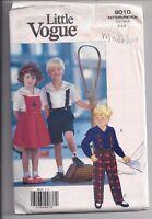 LITTLE VOGUE Child's Jumper Shirts Pants Shirt Sz 2 3 4 Sewing Pattern UNCUT