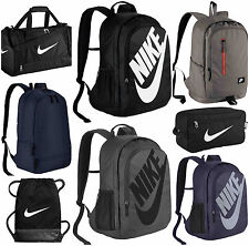 NIKE BACKPACKS DUFFEL DRAWSTRING SPORTS GYMSACK RUCKSACK SCHOOL MENS BAGS BLACK