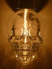 CRYSTAL HEAD VODKA SKULL BOTTLE EMPTY WALL SCONCE LIGHT FIXTURE 120V RED LED
