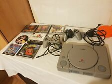 Sony PlayStation PS1 SCPH - 5552 Console officiel 2 manettes & 6 Games Bundle