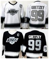 Kings Wayne Gretzky Hockey Jersey Black & White M, L, XL, 2XL, 3XL