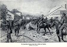 1915 Negotin: Die Bulgaren setzen sich in Besitz von * antique print